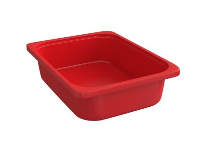 Rounded Throwin Storage Bins Small Red