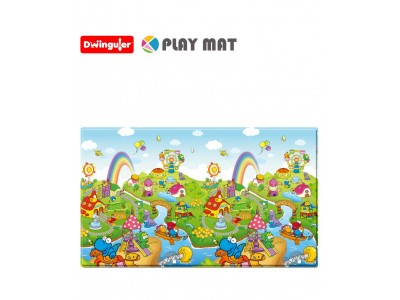 Dwinguler DINOLAND-Large Non Toxic Soft Playmat for Kids / Children / Toddlers