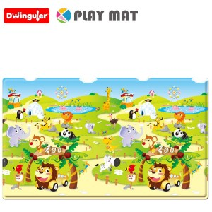 Dwinguler Playmat Non Toxic Soft Playmat For Kids / Children / Toddlers Zoo - Medium