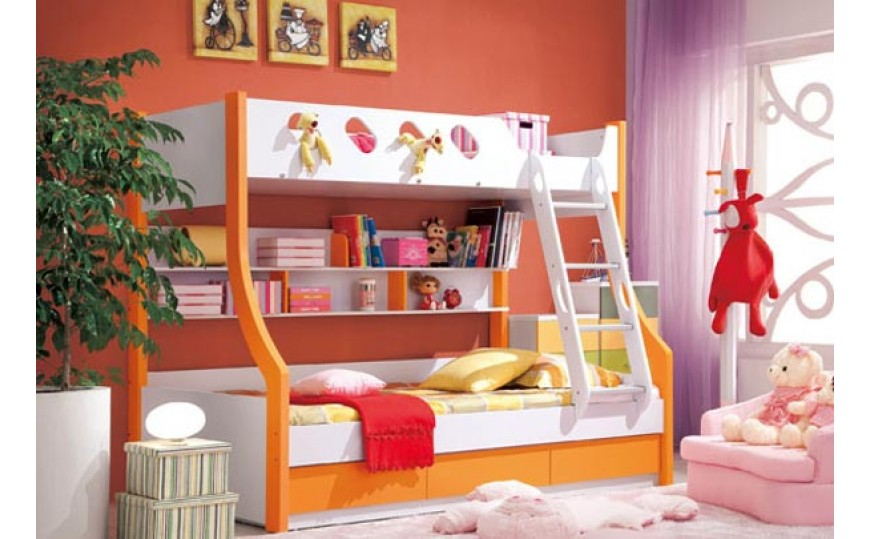Nixie Bunk Bed for Kids with Storage