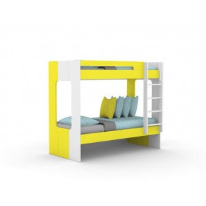 Andy Yellow Bunk Bed for Kids with 2 Beds