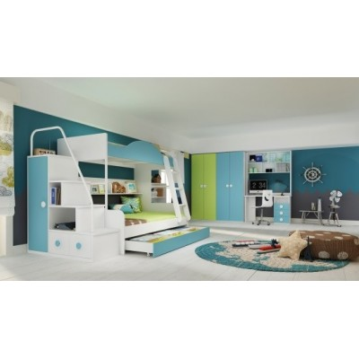 Charlie Kids Bunk Bed with 2 Beds