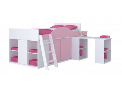 Harita Comprehensive Loft Bed Pink