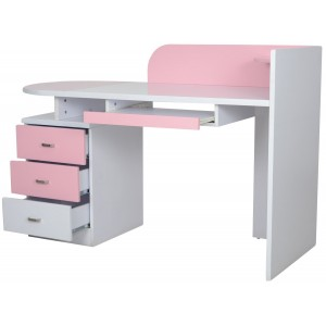 Elsie Pink Study Table for Girls
