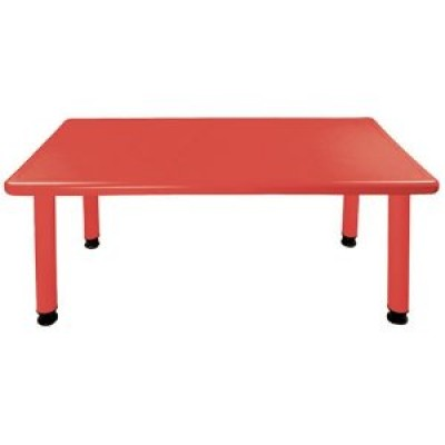 Rectangle Plastic Activity Table-Red (Chairs not included)