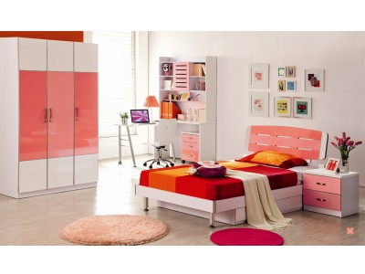 Bella Glossy Pink  Kids Wardrobe
