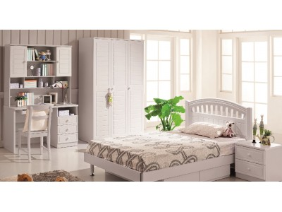 Swan Kids Bedroom Set of Bed and Study Table for Kids