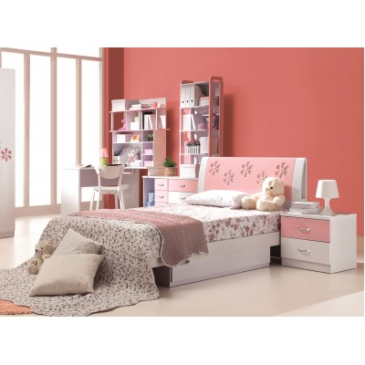 Annabelle Pink Floral Kids Twin Bed