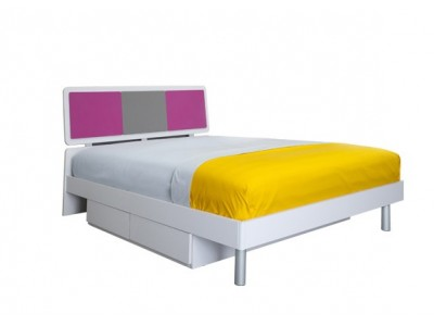 Magic-Magenta, Grey and White Twin Bed for kids
