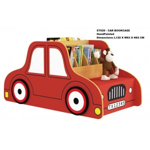 Car Shaped Red Bookshelf