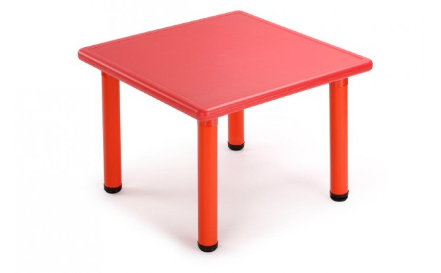 Square Activity Kids Plastic Table-Red