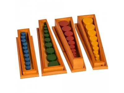 Montessori Materials-Knobless Cylinders