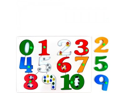 Little Genius AL15 Number Picture Tray Wooden Toy