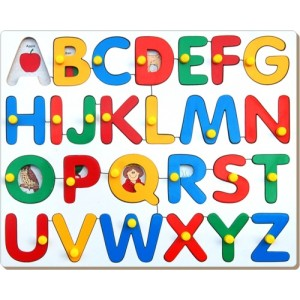 Alphabets with Pictures puzzle with knob