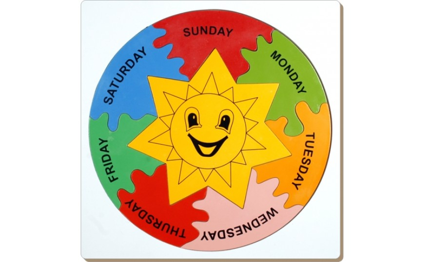 Jigsaw Days Of Week Wooden Puzzle