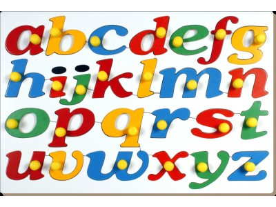 Little Genius AL63 - Jumbo Cursive Alphabets with Big Knobs