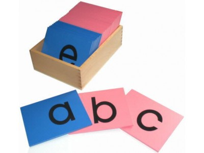 Montessori Materials-Sand Paper English Alphabets-Lowercase