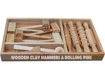 Wooden Clay Hammer & Rolling Pins
