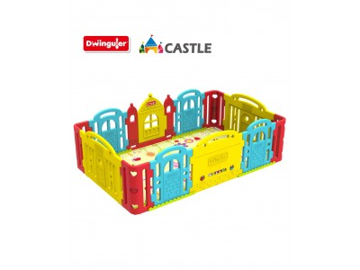 Dwinguler Baby Castle Kids Playpen - Rainbow Infant / Pre School / Kindergarden